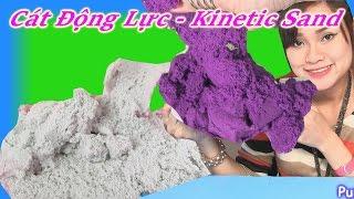 Tổng Hợp 7 Màu Cát Động Lực Kinetic Sand - Cát Động Lực Nữ Hoàng Băng Giá - Làm Trứng Gà Bằng Cát