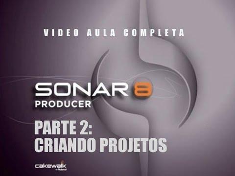 Video Aula SONAR 8 - Parte 2 - Criando projeto