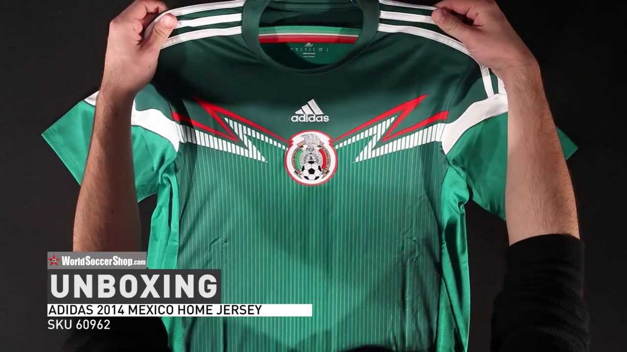 05eb37374fd38 adidas Mexico 2014 Home Soccer Jersey - Unboxing - YouTube