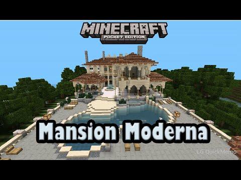 Como hacer una casa moderna minecraft pe tutorial doovi for Casa moderna minecraft pe 0 10 5