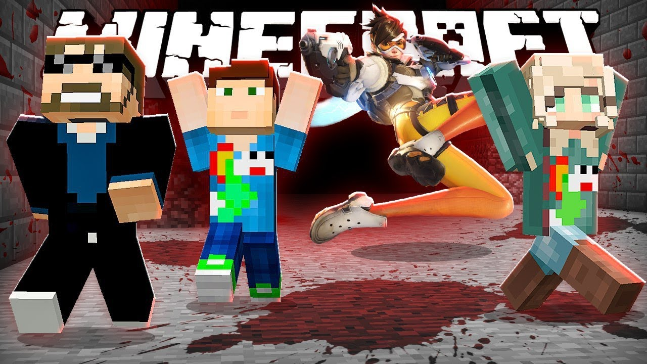 Minecraft: OVERWATCH KILLER RUN!!   MODDED MINI-GAME