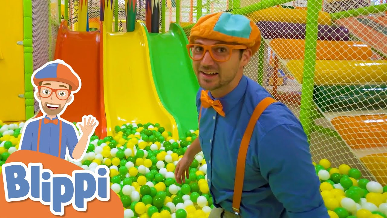 Blippi Visits Jumping Beans Indoor Playground! | Learn With Blippi |  Educational Videos For Kids