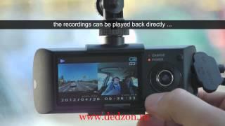 Автомобильный видео-регистратор GPS DVR X3000, две камеры.(Видео-регистратор Х3000 GPS. Две камеры. Узнай подробности., 2013-10-02T14:40:12.000Z)