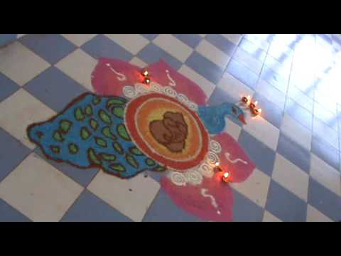 Delhi Public School { DPS } Rajouri organized an 'Intersection Rangoli Competition' to celebrate fes