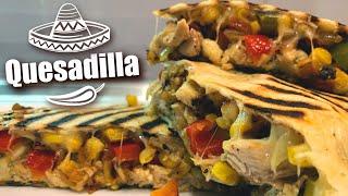 Рецепт 100 из 100 Домашняя КЕСАДИЛЬЯ С КУРИЦЕЙ Homemade CHICKEN QUESADILLA 12