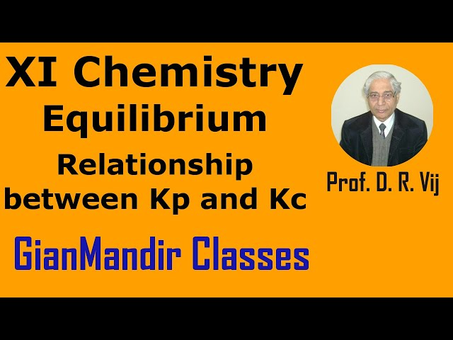 XI Chemistry - Equilibrium - Relationship between Kp and Kc by Ruchi Mam