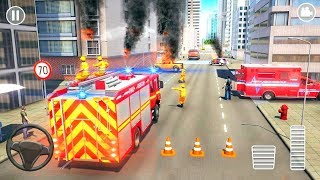 Fire Truck Rescue Emergency Driver 2019 - 911 Fire Engine Truck - Android Gameplay FHD