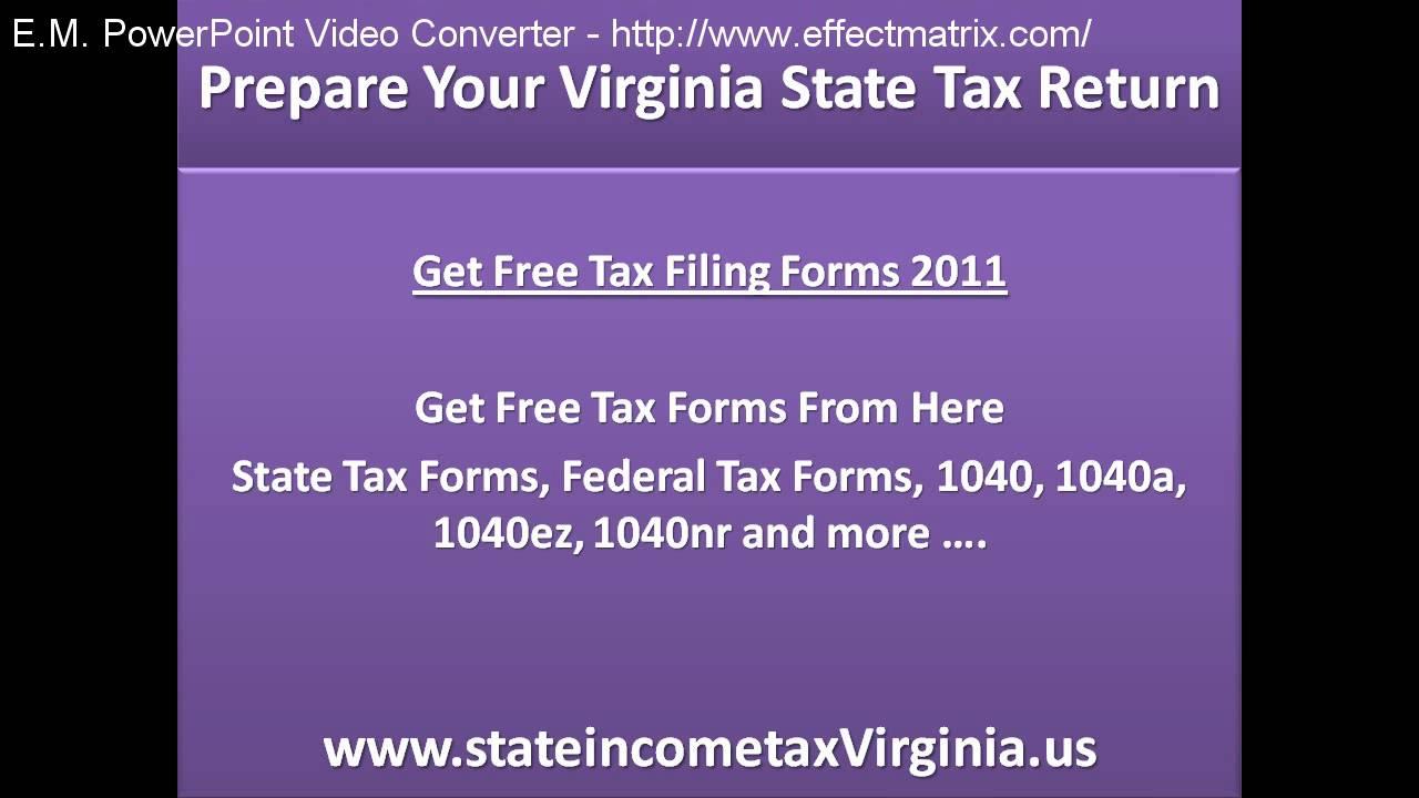Prepare Your Virginia State Tax Return, Free Virginia State Tax ...