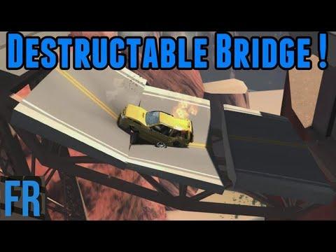 BeamNG Drive - Destructible Bridge !