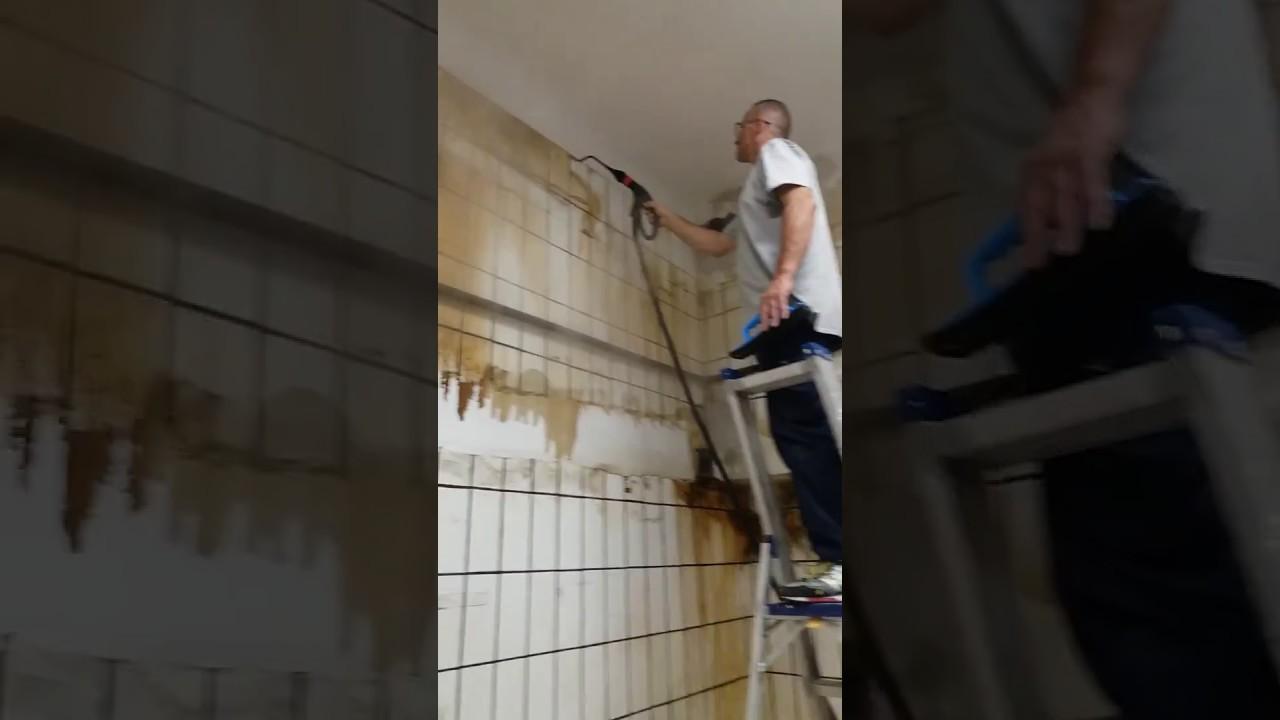 Pulizia con vapore di parete unta youtube