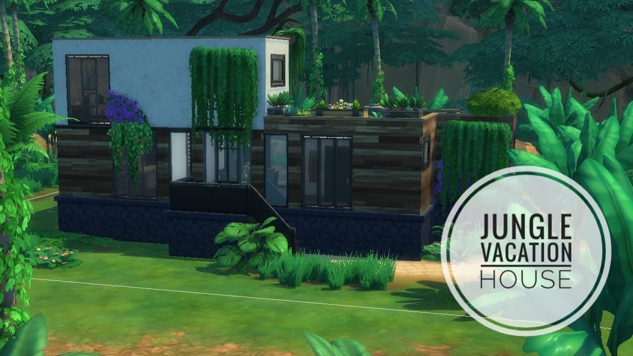 FIRST VIDEO EVER! Jungle Vacation House| SIMS 4| - YouTube