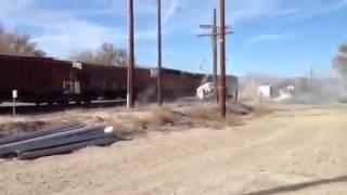 ДТП Авария Случай на переезде Поезд vs Грузовик