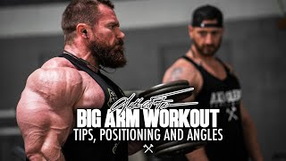 Big Arm Workout, Tips, Positioning, and Angles with Seth Feroce