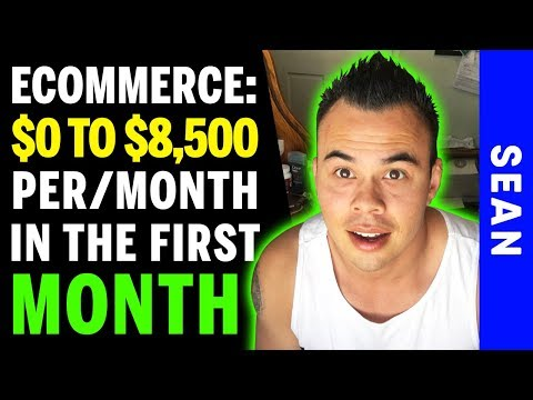 Zero To $8,500 In The 1st Month & $33,000 In The 3rd Month - Drop Shipping - Here's How I did it...