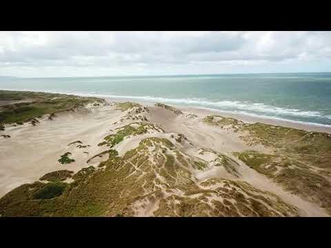Shell Island camping, Llanbedr, Gwynedd, Wales (Drone footage)