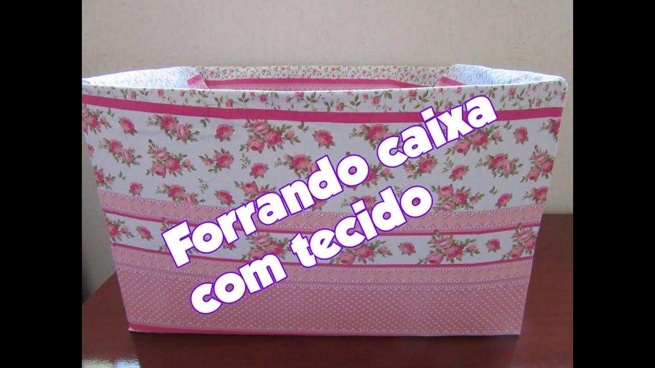 FORRANDO CAIXA DE PAPELÃO COM TECIDO Paty di Paula   #6A27A4 1024x768