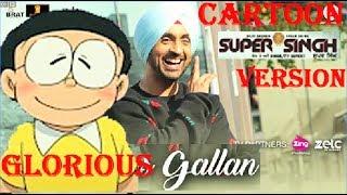 Diljit Dosanjh New Song Glorious gallan Cartoon Version !!