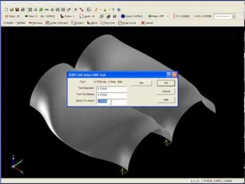 SURFCAM Tutorial - 2-Axis: Contour 3D