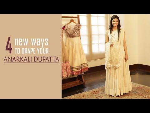 4 New Ways To Drape Your Anarkali Dupatta