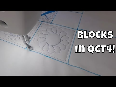 How To Quilt A Feathered Wreath Block With Quilter's Creative Touch 4
