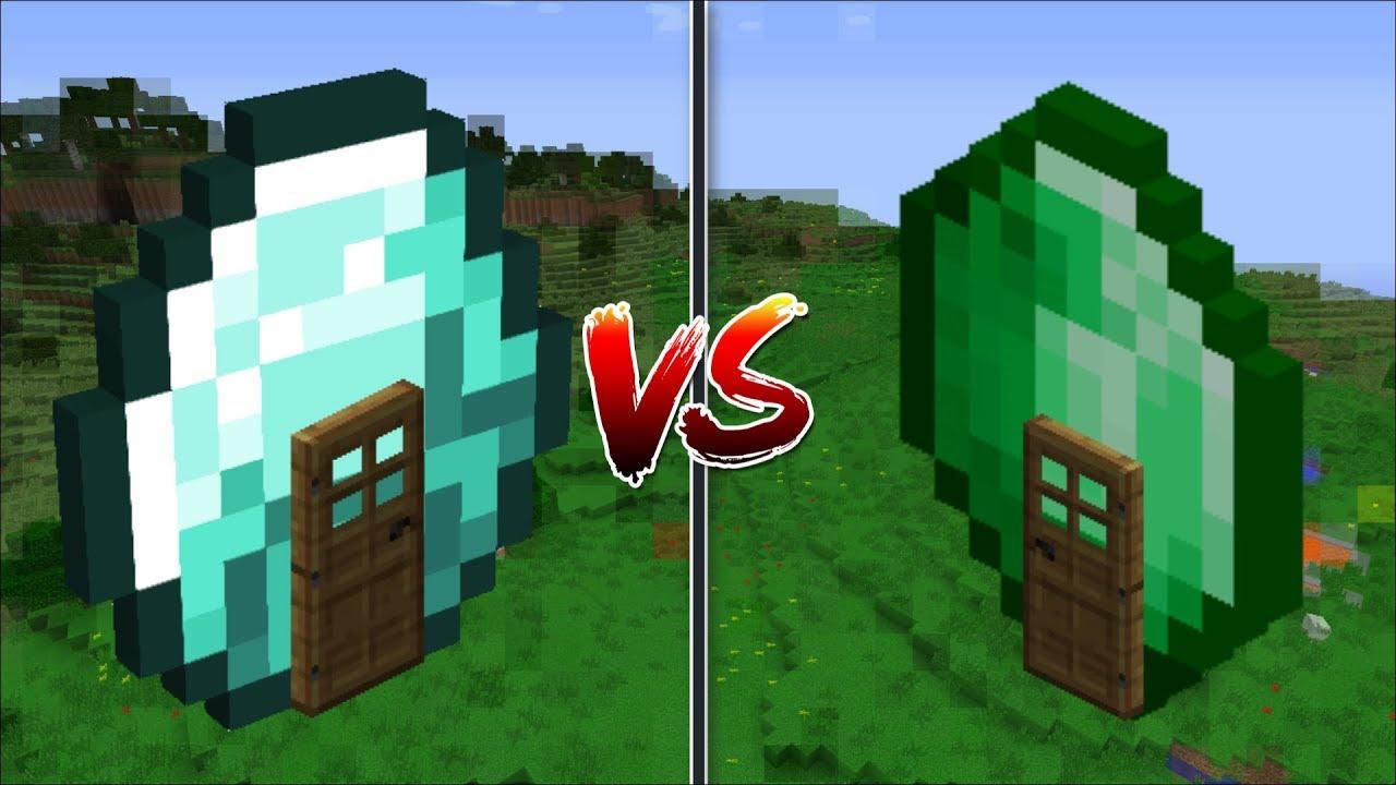 Minecraft EMERALD HOUSE VS DIAMOND HOUSE / BUILD YOUR OWN ...