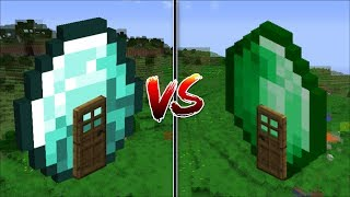 Minecraft EMERALD HOUSE VS DIAMOND HOUSE BUILD YOUR OWN HOUSE IN MINECRAFT Minecraft Mods