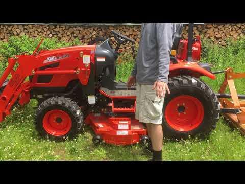 Kioti CK2510 HST Tractor W/ Loader & KM2560 Mid Mower - Walkthru