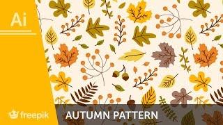How to create an Autumn Pattern in Adobe Illustrator - Alba Zapata | Freepik