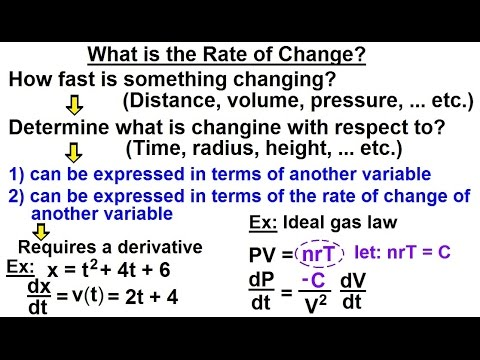 Calculus 1: Rate of Change (1 of 10) What is Rate of Change?