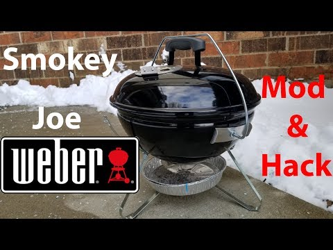 Weber Smokey Joe Premium Modification. DIY Weber Smokey Joe Mod Hack.