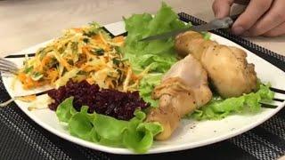 Курица в Медовом соусе в Мультиварке Philips . Куриные ножки в Мультиварке и Салат с Капустой