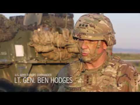 U.S. Army Europe Commander Lt. Gen. Hodges visits the 173rd Airborne Brigade