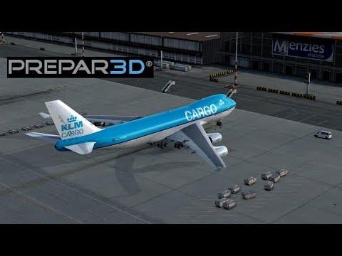 Prepar3D v4.1   Amsterdam[EHAM] - Graz[LOWG]   PMDG 747-400F   KLM Cargo   FSCloud