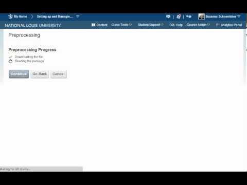 Import Zip File in D2L (D2L 10 0)