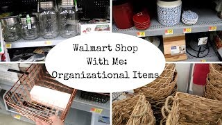 Walmart Shop With Me || Let's Get Organized