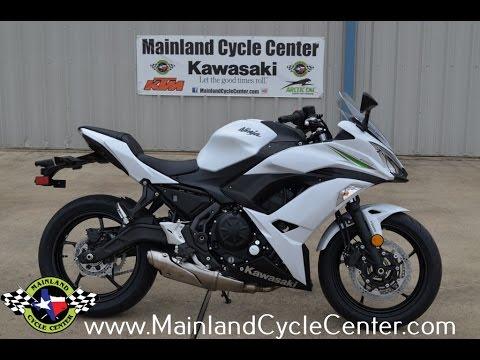 7799 2017 Kawasaki Ninja 650 Abs Pearl Blizzard White Overview