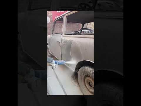 Graco EcoQuip -Vapor Blasting a 1964Classic Mini Cooper