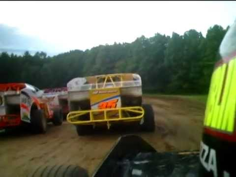 albany saratoga speedway modified heat race go-pro on car camera 2008