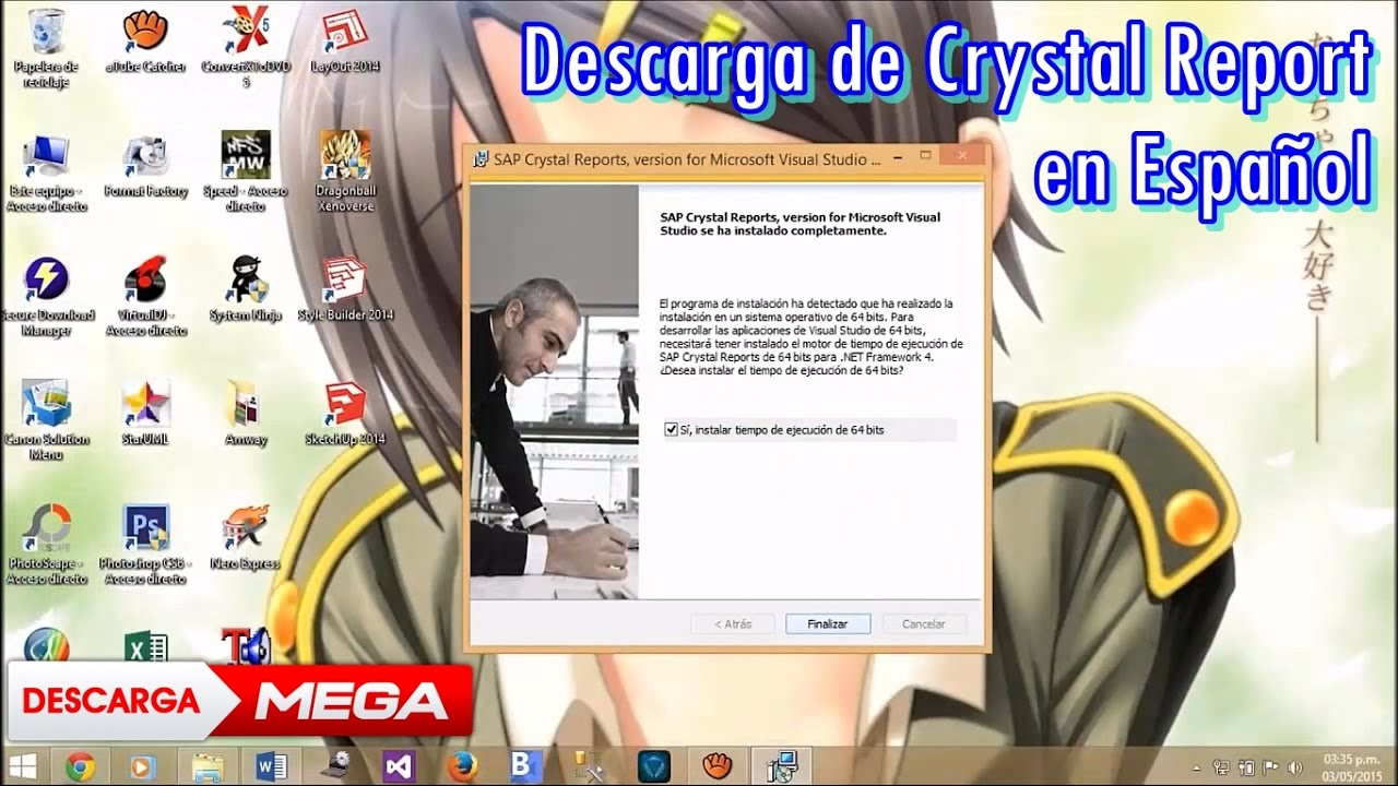 Crystal Reports para Visual Studio de 32 ó 64 bits