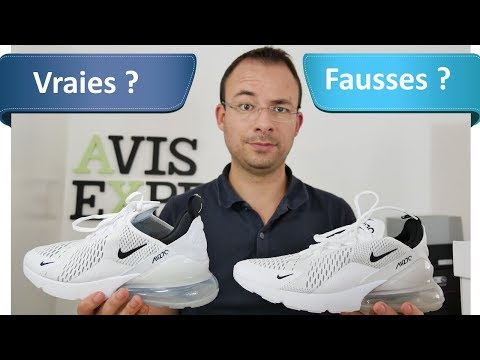 Nike Air Max 270 AliExpress (69€) VS Authentiques (150€) - le comparatif