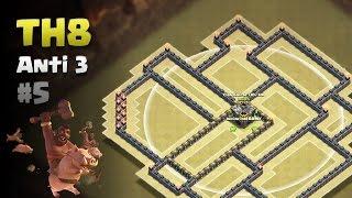 Clash of Clans ⚫ TH8 Anti 3 Star War Base #5 ⚫ No CC Lure