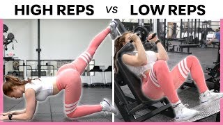 High Reps vs. Low Reps (WHICH IS BETTER?!) | Full Leg & Glute Workout