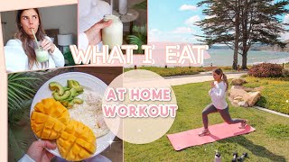 Sharing what i eat in a day, an at-home workout, healthy recipes, and tips to stay at home! :) watch next! *vid referenced the video: get healthy!...