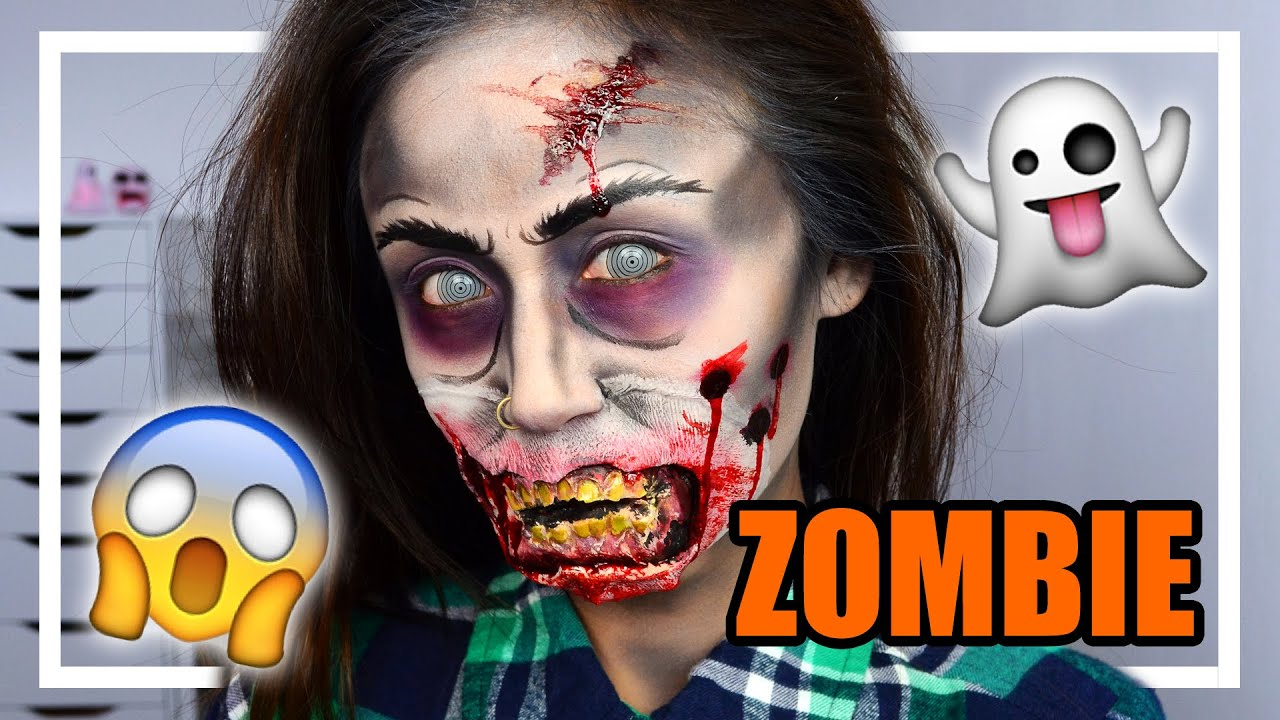 zombie halloween make up tutorial sheling youtube. Black Bedroom Furniture Sets. Home Design Ideas