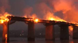 Famous Covered Bridge Catches Fire In Chongqing
