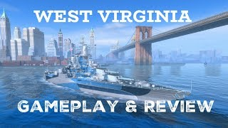West Virginia Gameplay Review World of Warships Blitz