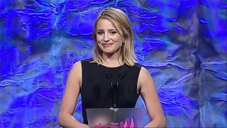 Dianna Agron at the #glaadawards