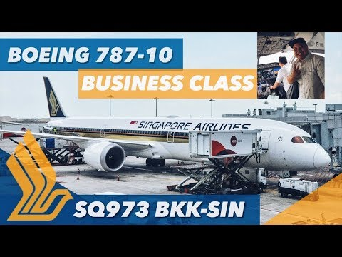 BOEING 787-10 Dreamliner Singapore Airlines NEW Business Class FLIGHT REVIEW SQ973 (22.04.18)