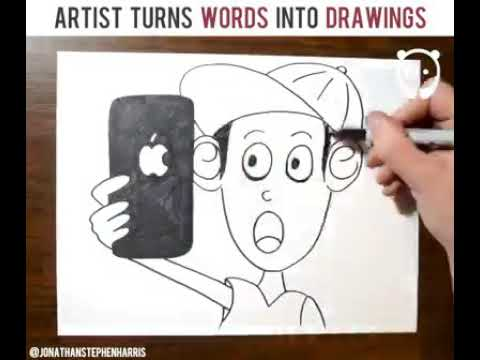 Artist turns word into design