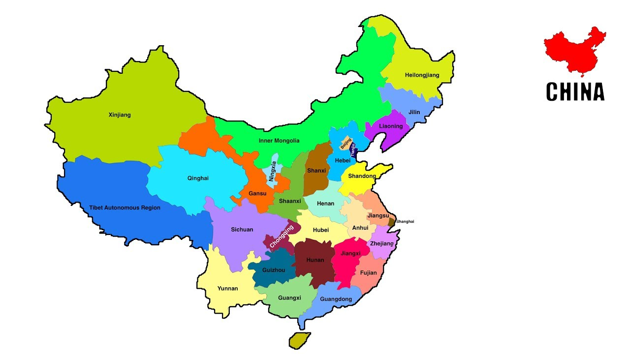 Image Of China Map.How To Draw Map Of China China Provinces Map Youtube